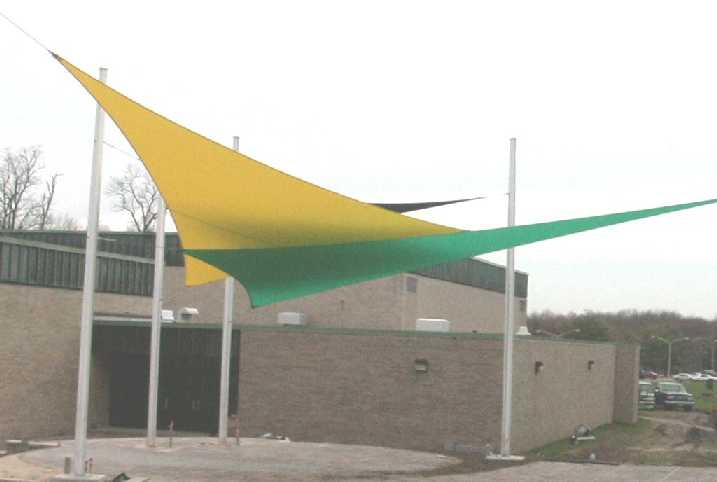 Shade Sails are very dramatic u0026 colorful!  sc 1 st  Shade for Rent & Yuma